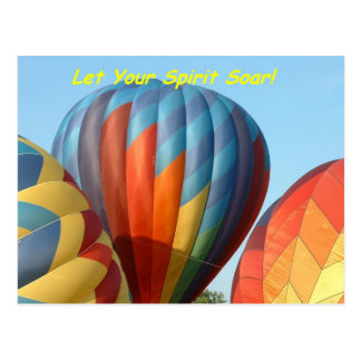 Balloons!  Let your spirit soar! Postcard