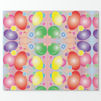 Balloons N bubbles Wrapping Paper