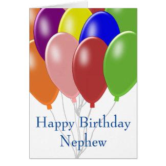 Balloons Nephew Birthday Card