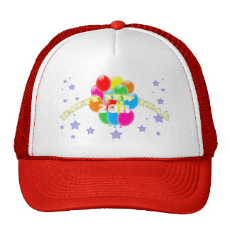 Balloons New Year Hat Template