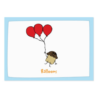 Balloons - Notecards Pack Of Chubby Business Cards