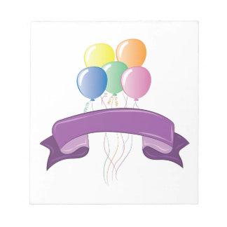Balloons Notepads