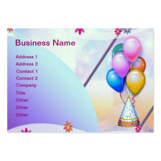 Balloons Pack Of Chubby Business Cards