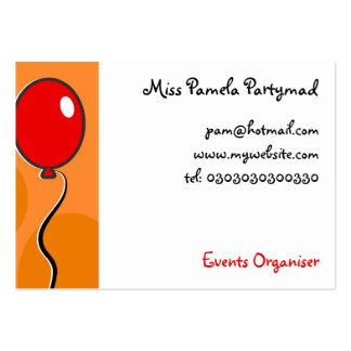 Balloons, Pack Of Chubby Business Cards