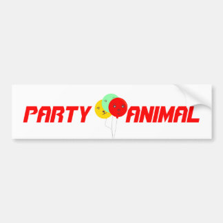 Balloons Party Animal faces cards Bumper Sticker