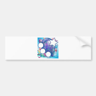 Balloons Party Cards for Boy Bumper Stickers
