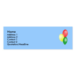 Balloons Profile Cards Pack Of Skinny Business Cards