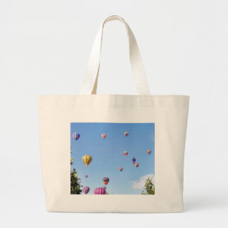 Balloons Sky Balloon Feastival Large Tote Bag