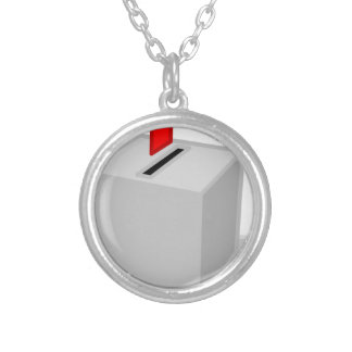 Ballot Box Silver Plated Necklace