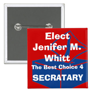 ballotbox, Elect, Jenifer M. Whitt, The Best Ch... 15 Cm Square Badge