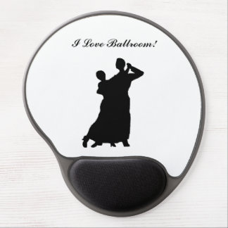 """Ballroom Couple"" Personalized Gel Mousepad"