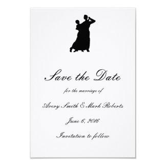 """Ballroom Couple"" Save the Dates 9 Cm X 13 Cm Invitation Card"