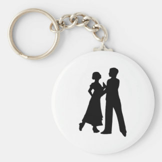 Ballroom Dance Basic Round Button Key Ring