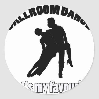 ballroom dance designs classic round sticker