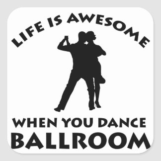 Ballroom dance designs square sticker