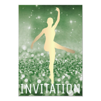 Ballroom Dancer Piruette Cali Green Greenly Card
