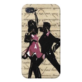 Ballroom dancers on vintage paper iPhone 4 cases
