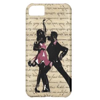 Ballroom dancers on vintage paper iPhone 5C case