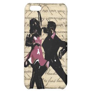 Ballroom dancers on vintage paper case for iPhone 5C