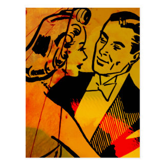 Ballroom Dancers Pop-Art Postcard