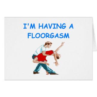 ballroom dancing card