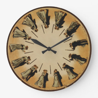 Ballroom Dancing Couple Waltzing 1898 Classic Large Clock