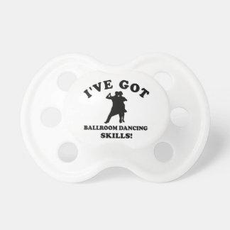 Ballroom dancing designs pacifier