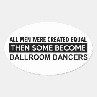 Ballroom dancing designs oval sticker