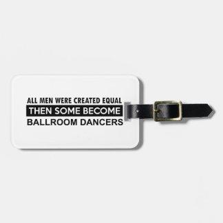 Ballroom dancing designs tags for luggage