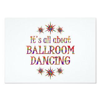 BALLROOM DANCING 13 CM X 18 CM INVITATION CARD
