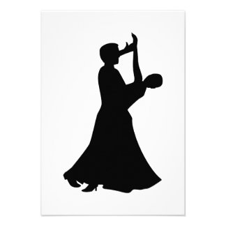 Ballroom dancing personalized invitation