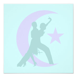 Ballroom dancing 13 cm x 13 cm square invitation card