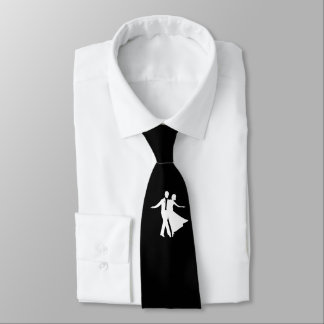Ballroom Dancing Necktie Black and White