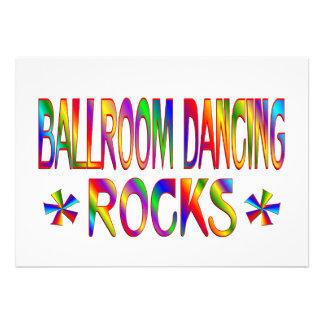 Ballroom Dancing Rocks Personalized Invite