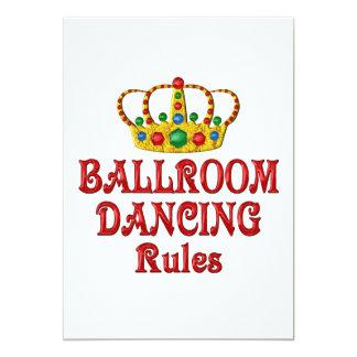 BALLROOM DANCING RULES 13 CM X 18 CM INVITATION CARD