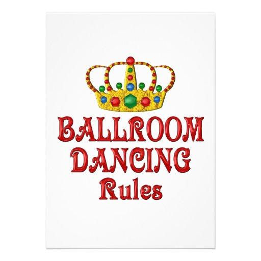 BALLROOM DANCING RULES CUSTOM ANNOUNCEMENTS