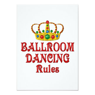 BALLROOM DANCING RULES 5X7 PAPER INVITATION CARD