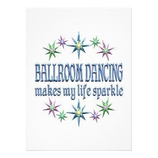 Ballroom Dancing Sparkles Personalized Invitation