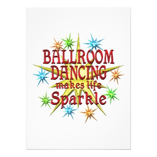 Ballroom Dancing Sparkles Personalized Announcements