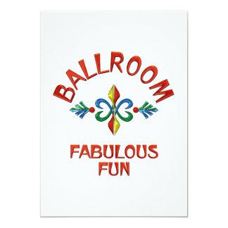Ballroom Fabulous Fun 13 Cm X 18 Cm Invitation Card