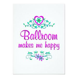 Ballroom Happy Customized Announcement Card