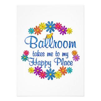 Ballroom Happy Place Custom Invitation