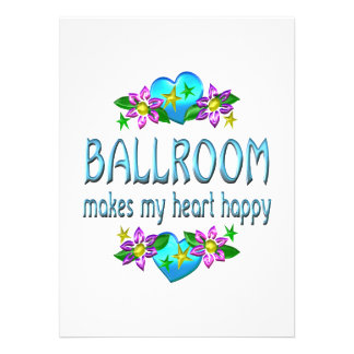 Ballroom Heart Happy Custom Announcements