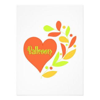 Ballroom Heart Custom Announcement