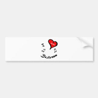 Ballroom Items - I Heart Ballroom Bumper Sticker