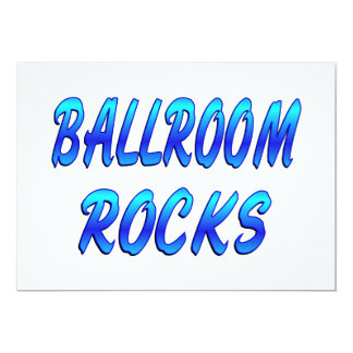 BALLROOM ROCKS 13 CM X 18 CM INVITATION CARD