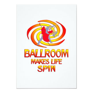 Ballroom Spins 13 Cm X 18 Cm Invitation Card