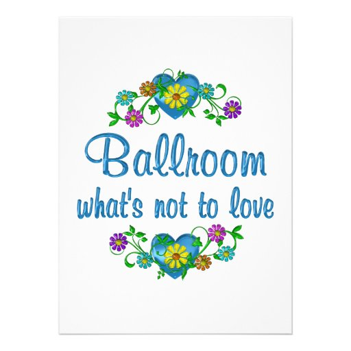 Ballroom to Love Personalized Announcements