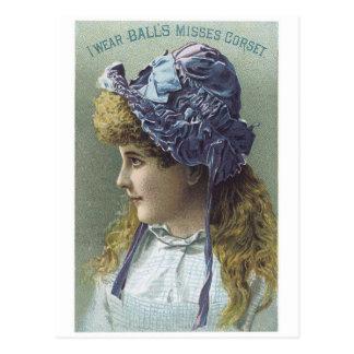 Balls Corset Postcard