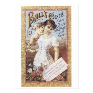 Balls Corsets Lady with Angel Postcard